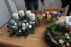Výroba adventních věnců 2015