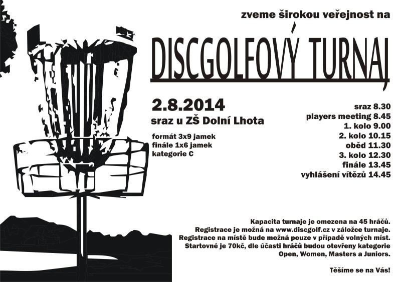 Discogolfový turnaj - 2. 8. 2014