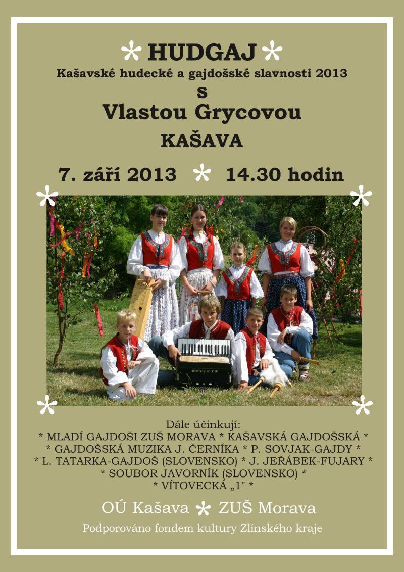 Pozvánka na Kašavské hudecké a gajdošské slavnosti 2013