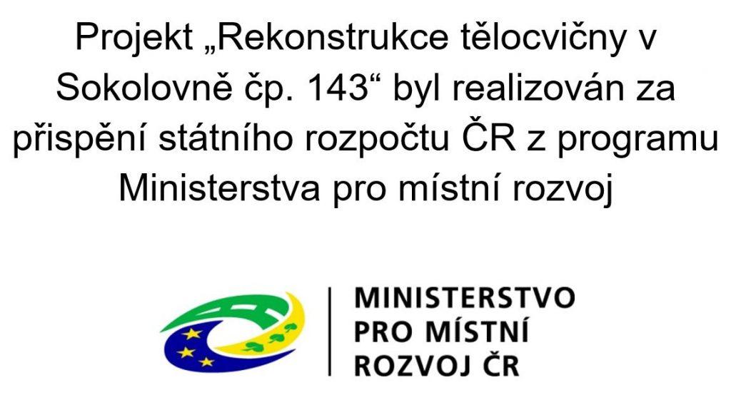 Rekonstrukce tělocvičny v Sokolovně čp. 143