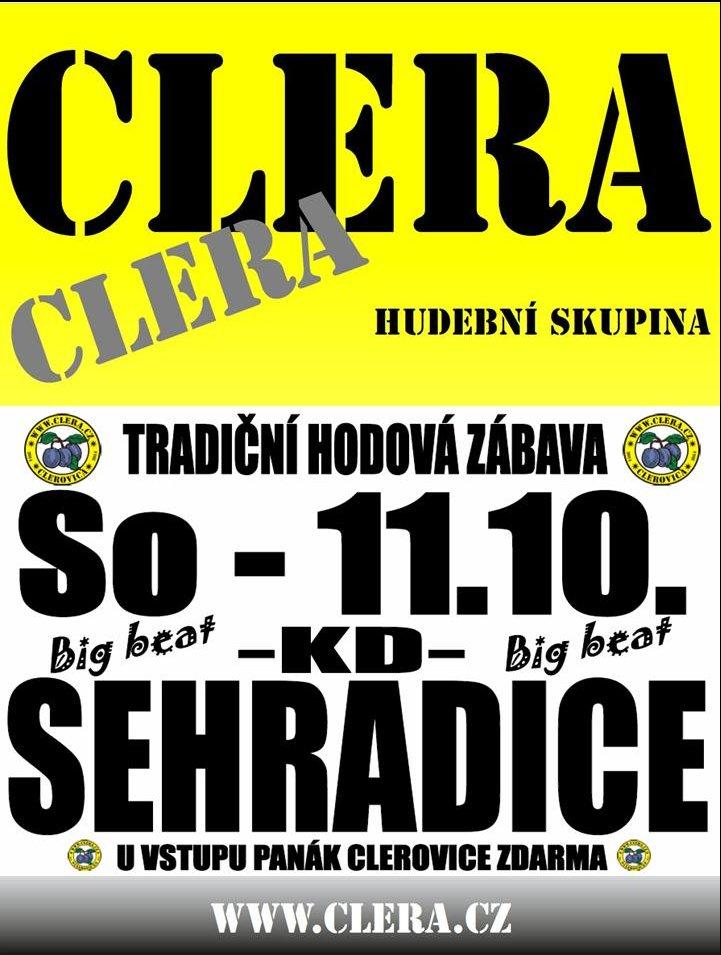 Clera - tradiční hodová zábava - 11. 10. 2014
