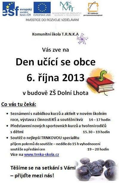 Den učící se obce - 6. 10. 2013
