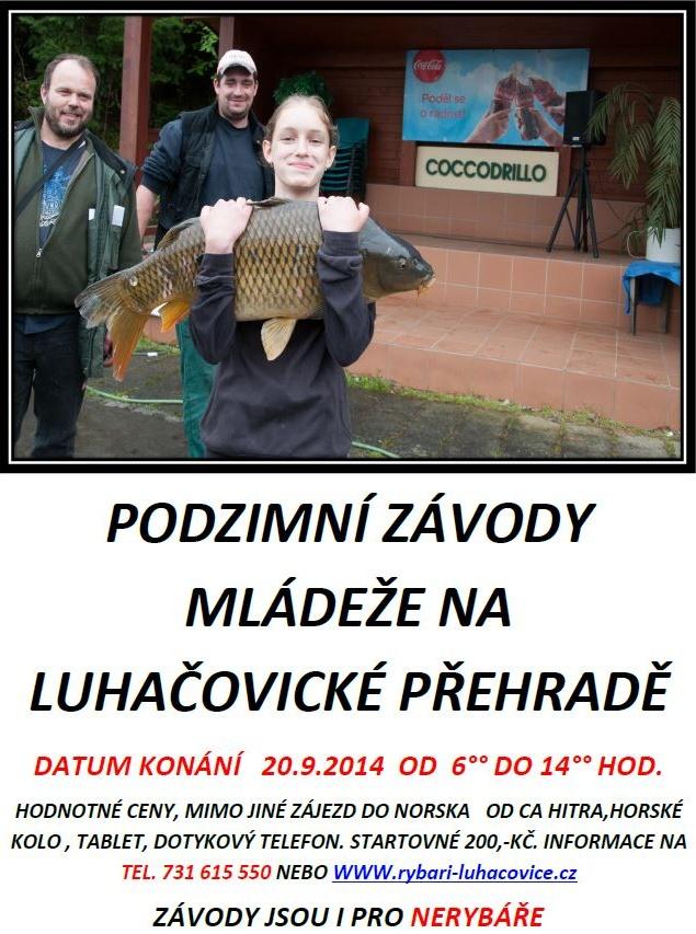 Podzimní závody mládeže na Luhačovické přehradě