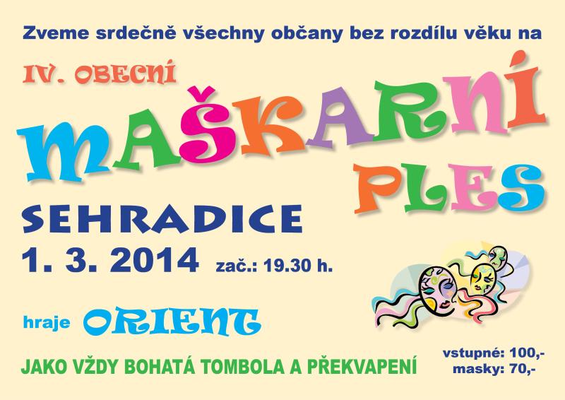 Maškarní ples - 1. 3. 2014