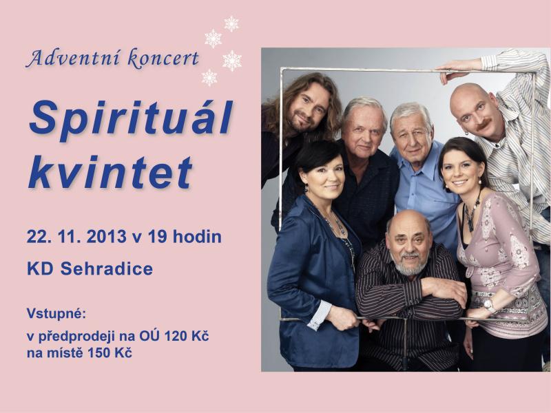 Spirituál kvintet - adventní koncert - 22.11.2013