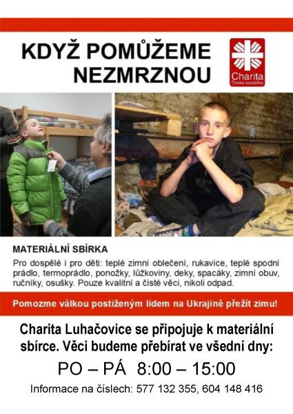 Charita Luhačovice - Sbírka na pomoc Ukrajině